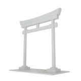 Puerta de Japón aislada en blanco Fotografía de archivo