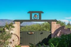 Puerta de jardín Foto de archivo