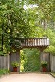 Puerta de jardín japonesa de la pagoda Imagenes de archivo