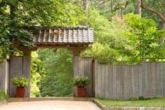 Puerta de jardín japonesa de la pagoda Imagen de archivo libre de regalías