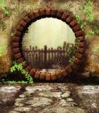 Puerta de jardín secreto Imagen de archivo