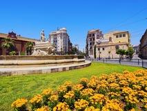 Puerta de Jerez em Sevilha, Espanha imagem de stock royalty free