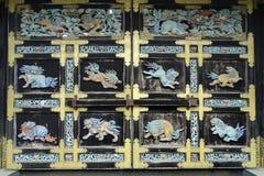Puerta de Karamon del templo de Nishi Hongan-ji en Kyoto, Japón imagenes de archivo