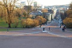 Puerta de Karl Johans Imagenes de archivo