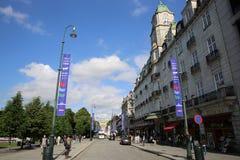 Puerta de Karl Johans Oslo Imagen de archivo