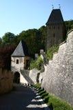 Puerta de Karlstejn Imágenes de archivo libres de regalías