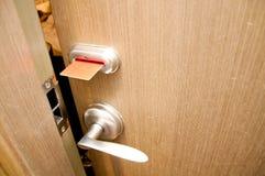 Puerta de Keycard Foto de archivo libre de regalías