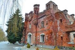 Puerta de Kholmskiye en la fortaleza de Brest Imágenes de archivo libres de regalías
