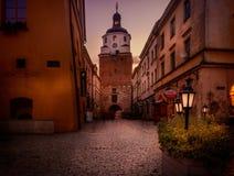 Puerta de Krakowska en Lubin imágenes de archivo libres de regalías