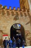 Puerta de la abadía de Montserrat, España Fotos de archivo libres de regalías