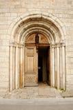 Puerta de la abadía de Valbonne Imagen de archivo libre de regalías