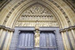 Puerta de la abadía de Westminster Fotos de archivo libres de regalías