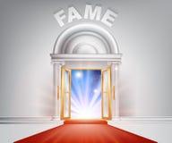 Puerta de la alfombra roja de la fama Imagen de archivo libre de regalías