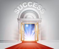 Puerta de la alfombra roja del éxito Imagen de archivo