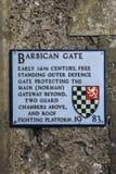 Puerta de la barbacana en el castillo de Lewes Imagen de archivo