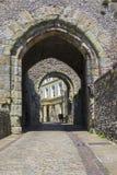 Puerta de la barbacana en el castillo de Lewes Imagen de archivo libre de regalías