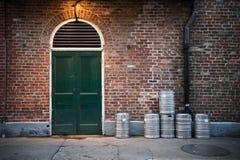 Puerta de la barra de la calle de Boubron foto de archivo
