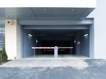 Puerta de la barrera al estacionamiento Imagen de archivo libre de regalías