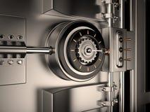 Puerta de la cámara acorazada, 3D Foto de archivo libre de regalías