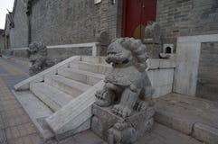Puerta de la casa del chino tradicional fotos de archivo libres de regalías