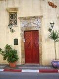 Puerta de la casa vieja Fotos de archivo