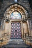 Puerta de la catedral imagen de archivo libre de regalías