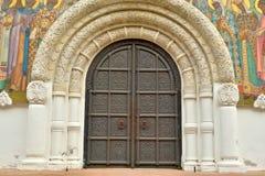 Puerta de la catedral de Feodorovsky Gosudarev Imagen de archivo libre de regalías