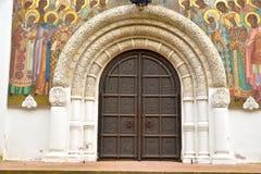 Puerta de la catedral de Feodorovsky Gosudarev Foto de archivo libre de regalías