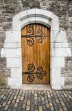 Puerta de la catedral de la iglesia de Cristo, Dublín, Irlanda Imagen de archivo libre de regalías