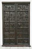 Puerta de la catedral de StSophia Veliky Novgorod, Rusia Imagenes de archivo