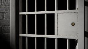 Puerta de la celda de prisión y barras de hierro soldadas con autógena libre illustration