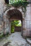 Puerta de la ciudad antigua del agujero del camino de puerta de los leones imágenes de archivo libres de regalías