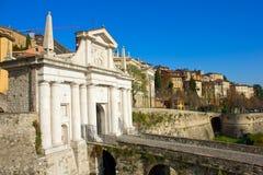 Puerta de la ciudad, Bérgamo, Italia fotos de archivo libres de regalías