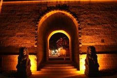 Puerta de la ciudad de Huanglongxi Foto de archivo