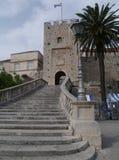 Puerta de la ciudad de Korcula en Croacia Fotos de archivo