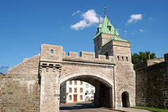 Puerta de la ciudad de Porte St. Louis, Quebec City Imagenes de archivo