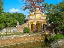 Puerta de la ciudad Prohibida en la tonalidad, Vietnam Imagen de archivo libre de regalías