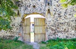 Puerta de la ciudadela de Racos imagen de archivo libre de regalías