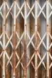 Puerta de la diapositiva del hierro Foto de archivo libre de regalías