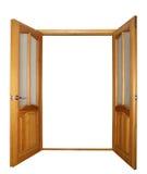 puerta de la Dos-hoja aislada Imagenes de archivo