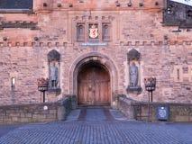 Puerta de la entrada al castillo de Edimburgo Foto de archivo libre de regalías