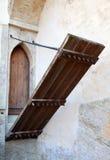 Puerta de la entrada del castillo Fotografía de archivo
