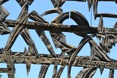 Puerta de la entrada del holocausto Shoa Yad Vashem conmemorativo en Jerusalén, Israel imagenes de archivo