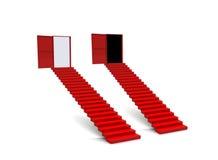 Puerta de la escalera de los pasos de progresión Imagen de archivo