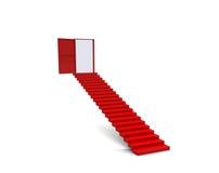 Puerta de la escalera de los pasos de progresión Fotos de archivo libres de regalías