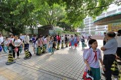 Puerta de la escuela del tangxia Fotos de archivo libres de regalías