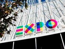 Puerta de la expo 2015 fotos de archivo libres de regalías