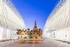 Puerta 2015 de la expo en Milán, Italia Fotografía de archivo