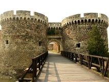 Puerta de la fortaleza con las torres Imagenes de archivo
