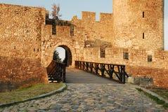 Puerta de la fortaleza de Belgrado Imagen de archivo